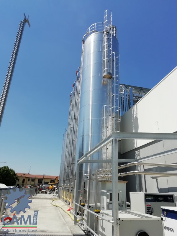 Successful tested new industrial plant for food sector